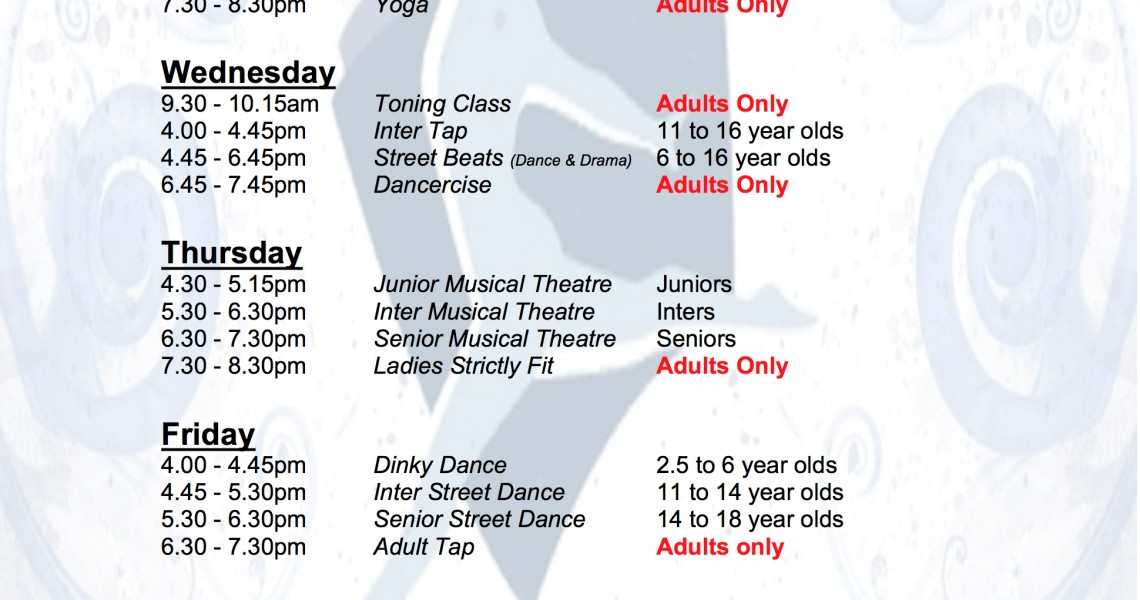See Our Time Table